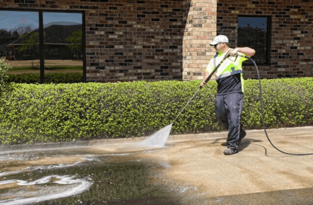 commercial concrete cleaning in wilmington